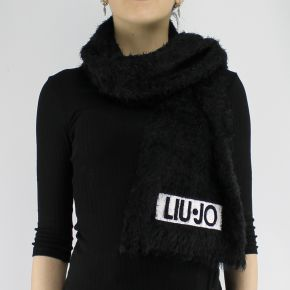 Sciarpa Liu Jo logo nera