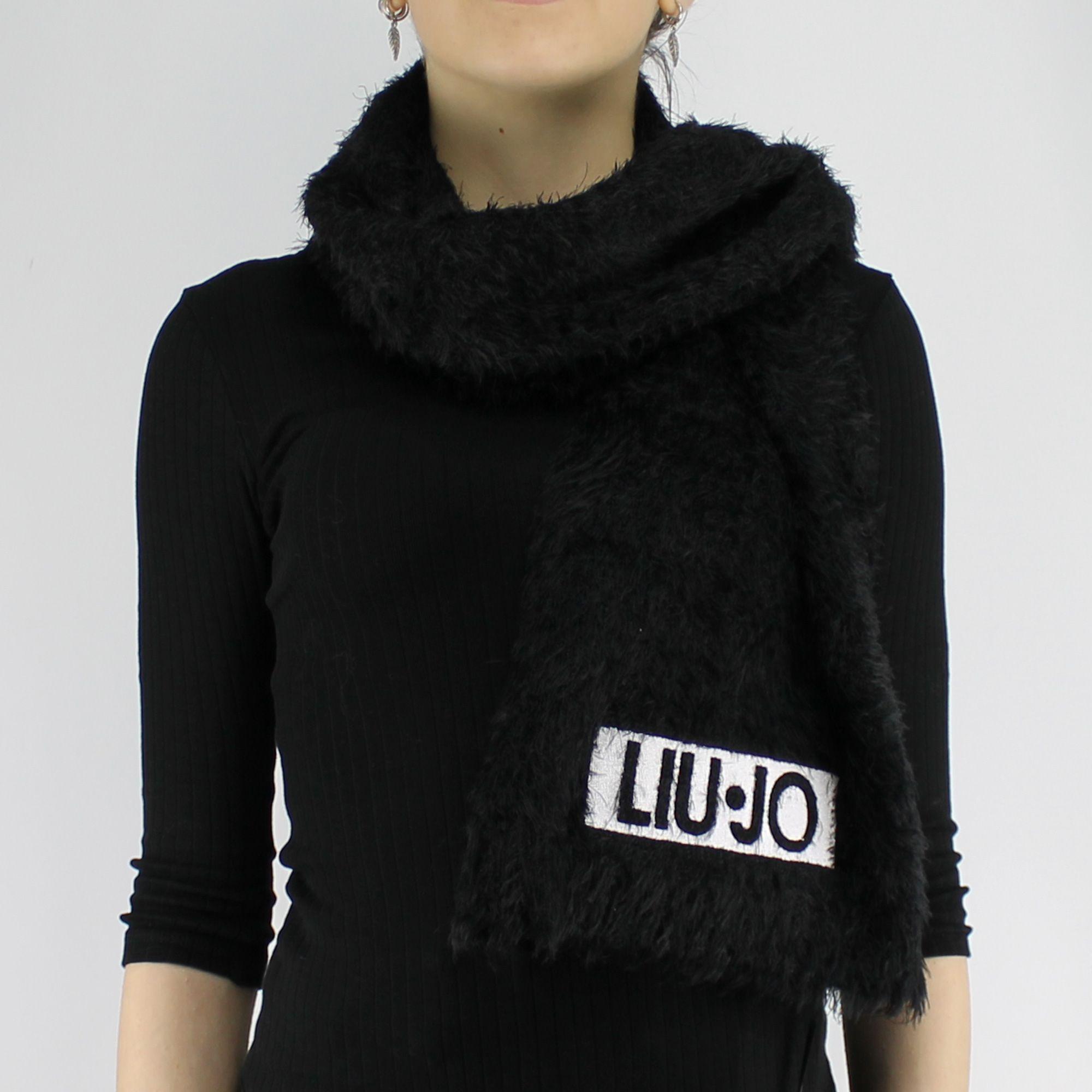 241d80de74dd Écharpe logo Liu Jo noir