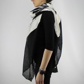 Kefia schal Twin-Set-herz-white cashmere
