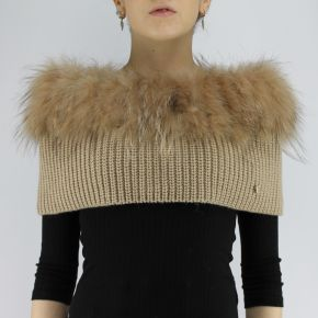 Fur collar Liujo biscuit