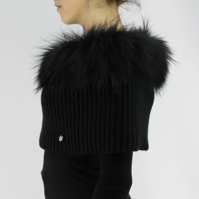 Fur collar Liujo black