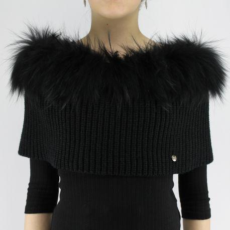 Collo di pelliccia Liujo nero