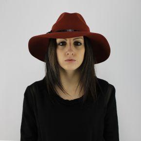 Sombrero de ala ancha Liu Jo whisky