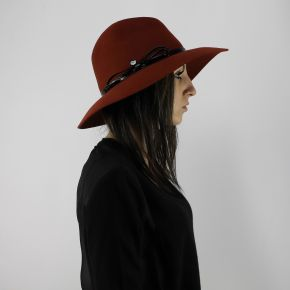 Hat wide brim Liu Jo whisky