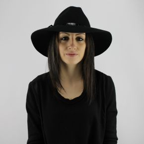Sombrero de ala ancha Liu Jo negro
