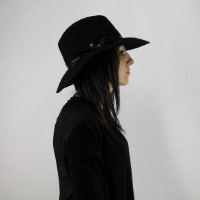 Hat wide brim Liu Jo black