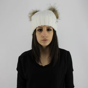 Hat pompon fur LiuJo glass
