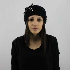 Headset Twin-Set pearls bow schwarz