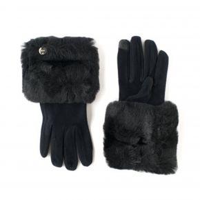Handschuh mit handgelenk-fake fur schwarz Liu Jo