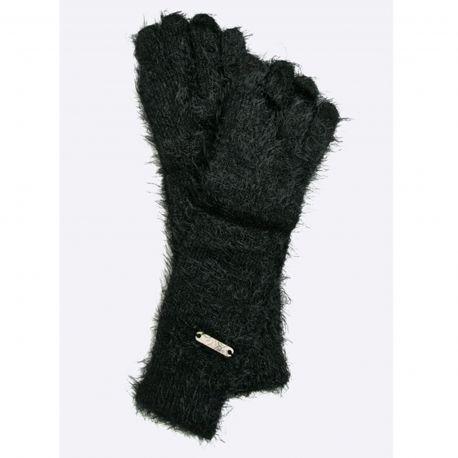 Handschuhe-Liu Jo Sport logo schwarz