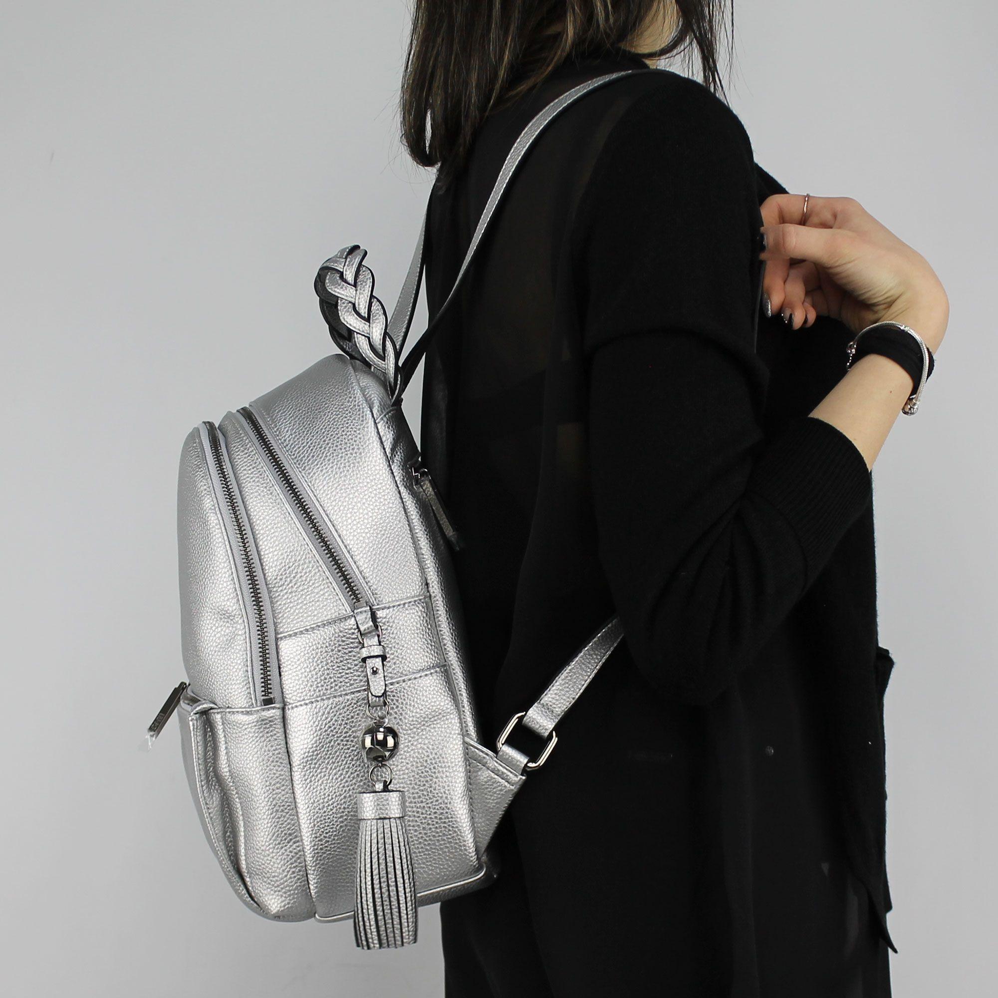 preocuparse helicóptero Desempacando  Borsa zaino Liu Jo m backpack arizona silver - In More Est Store