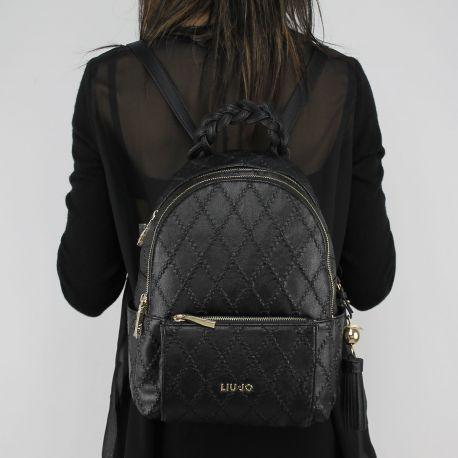 Rucksack handtasche Liu Jo-Rucksack Arizona trapunatato schwarz A18052 e0025 message