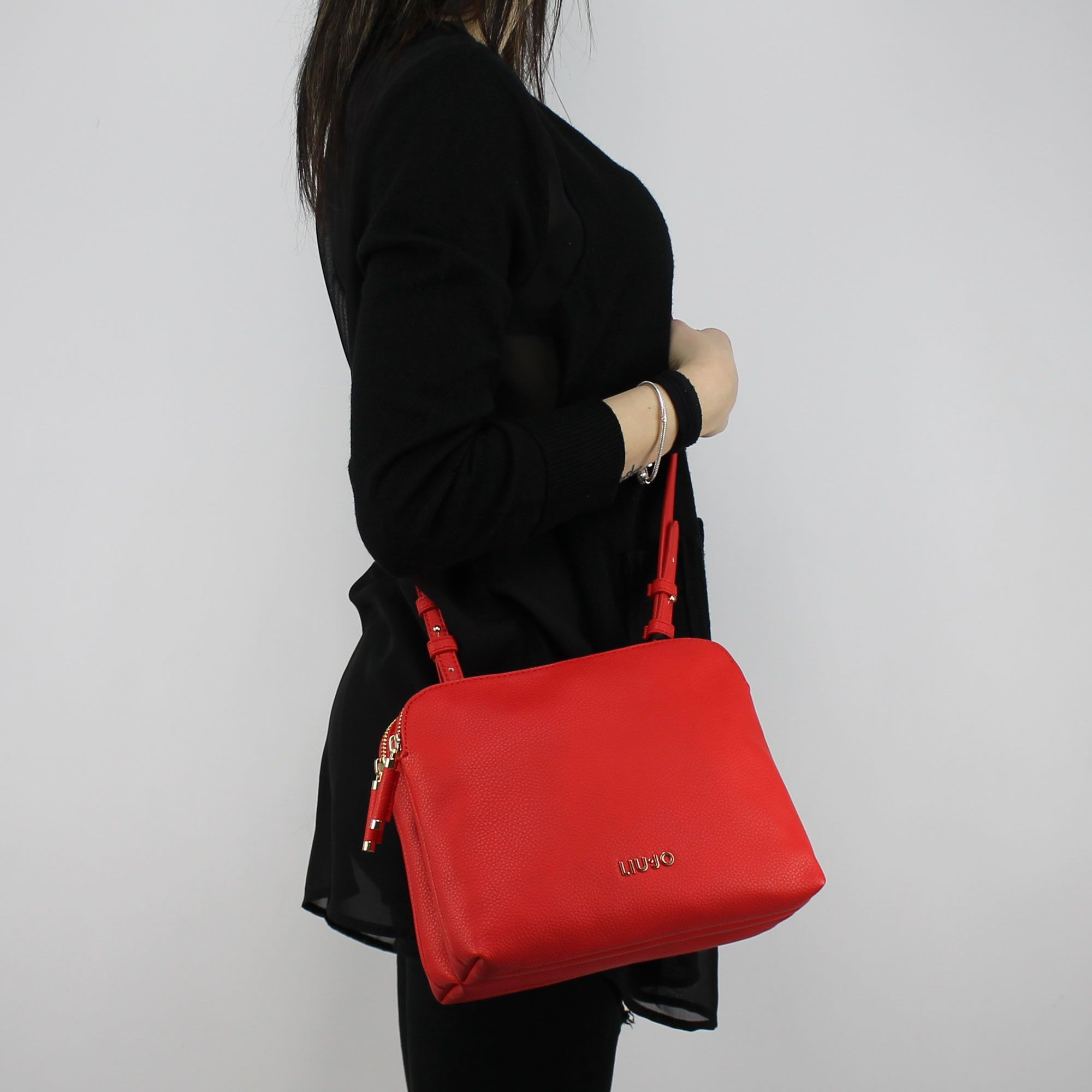 prezzo di fabbrica 126be 8ee63 Borsa Tracolla Liu Jo Beauty Doppia Zip rossa N18130 E0037