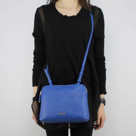 Umhängetasche von Liu Jo Beauty-Doppel-Zip bluette N18130 E0037