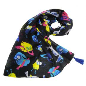 SCARF 110 X 110 BIRDS NEON DREAM LIU JO