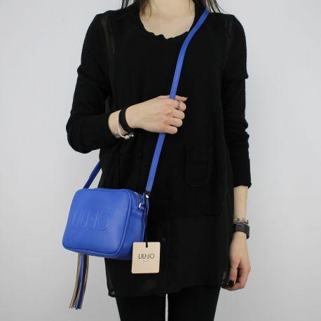 Borsa Tracolla Liu Jo Beauty Doppia Zip bluette N18130 E0037