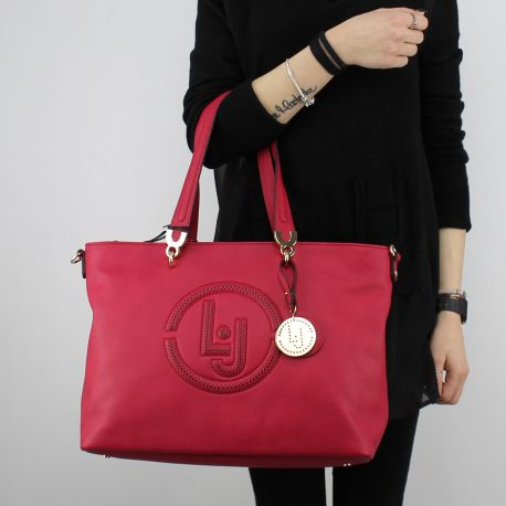 Borsa Shopping Liu Jo Tote Colorado ciliegia N18212 E0037