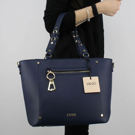 Borsa Shopping Liu Jo Tote Ohio blu N18190 E0037