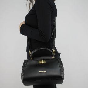 Tasche topcase Love Moschino-schwarze steppjacke mit wäscheklammer JC4024PP15LB0000