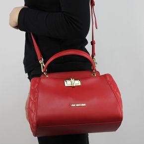 Borsa bauletto Love Moschino rossa trapuntata con molletta JC4024PP15LB0500