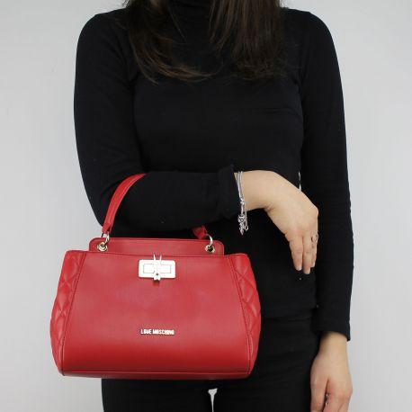 Tasche topcase Love Moschino-rote steppjacke mit wäscheklammer JC4024PP15LB0500
