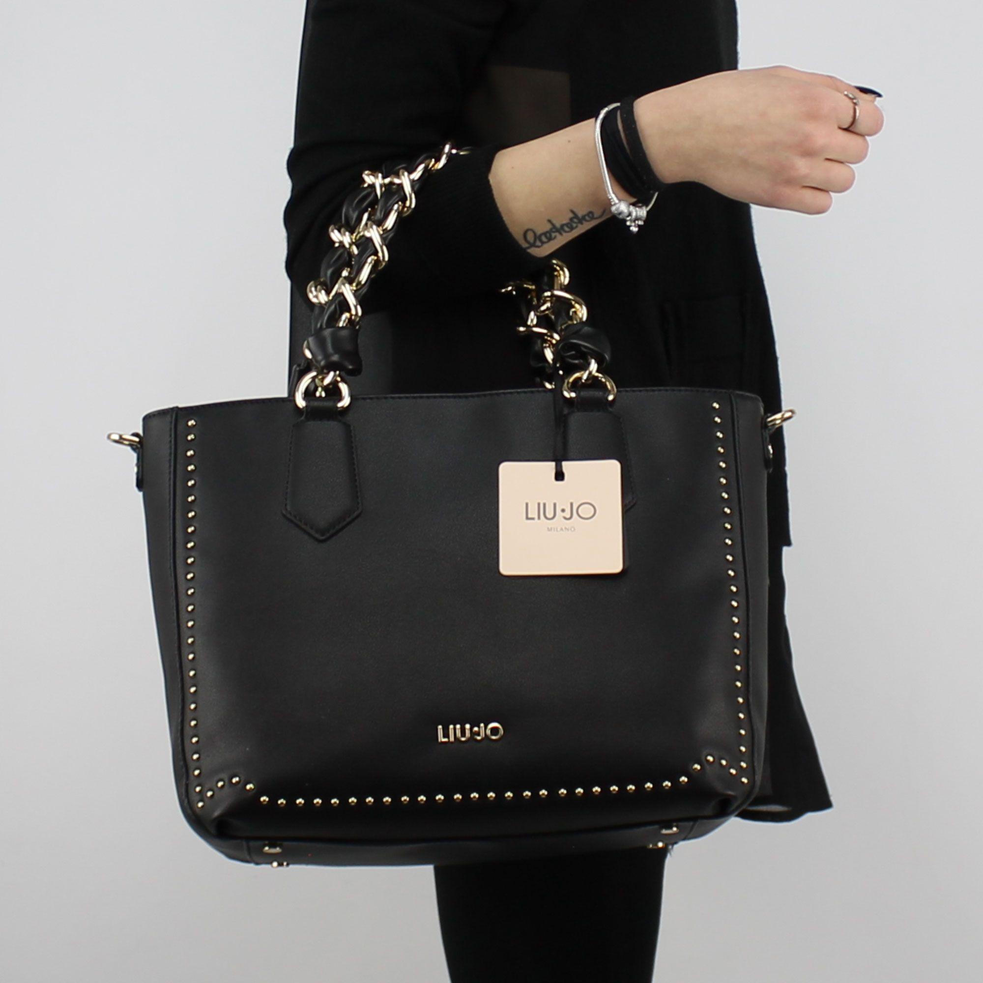 más fotos diseño elegante gran venta de liquidación Bolsa de compras de Liu Jo Bolso Precioso negro A18020 E0010