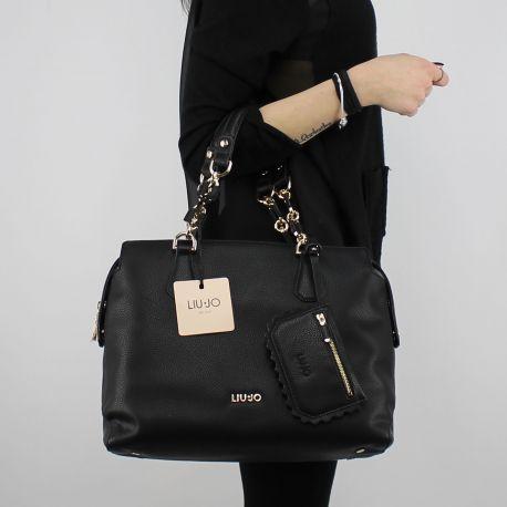 Shopping bag L umhängetasche detroit schwarz