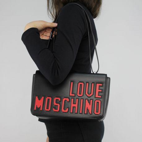 Borsa tracolla Love Moschino nera logo game JC4066PP15LH0000