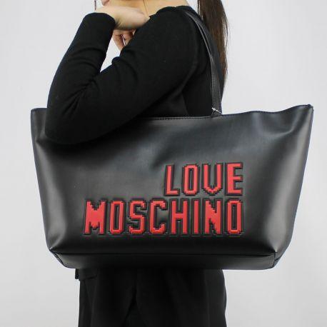 Borsa shopping Love Moschino nera logo game JC4067PP15LH0000