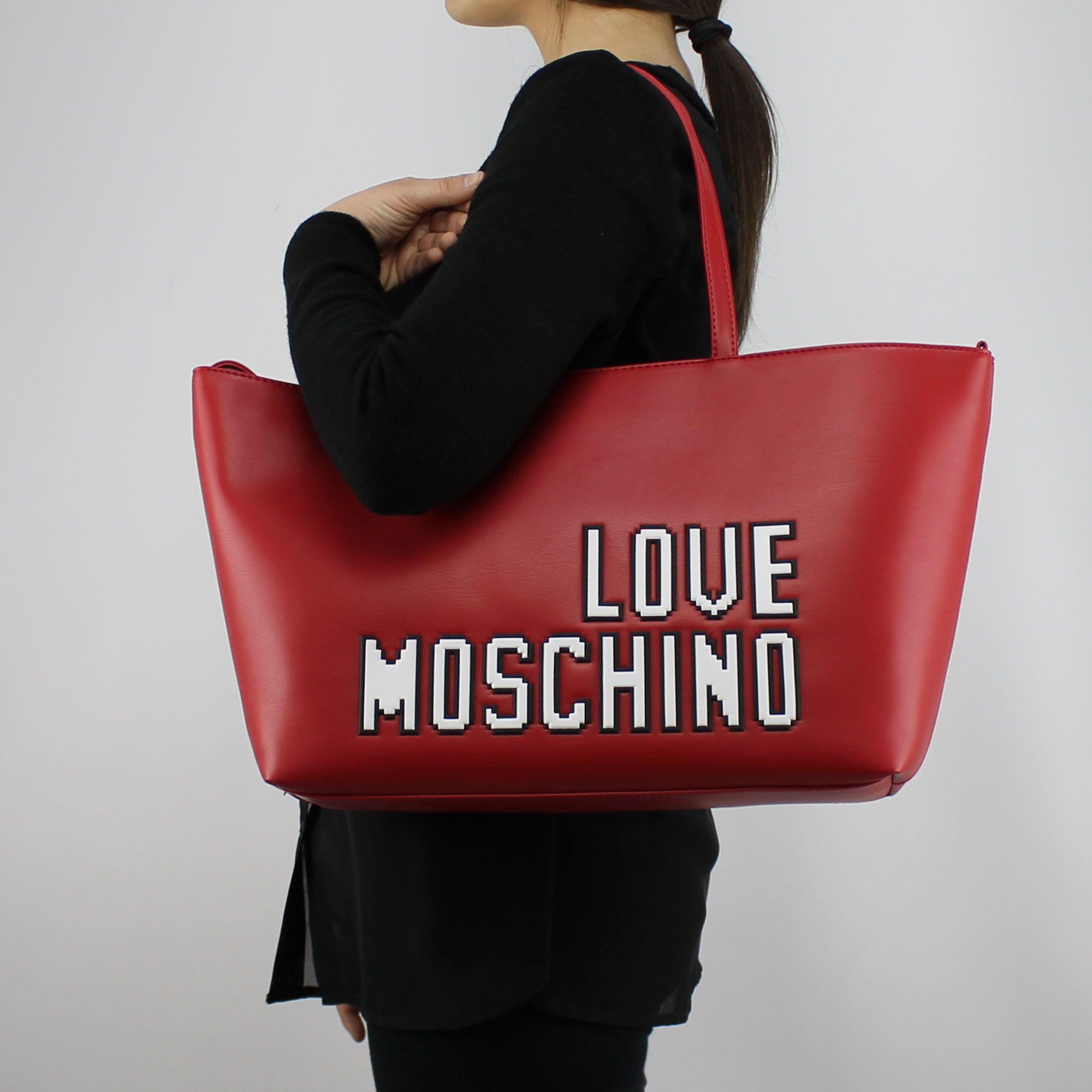 63a61edee5 Borsa shopping Love Moschino rossa logo game JC4067PP15LH0500