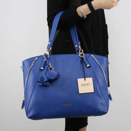 Borsa Shopping Liu Jo Tote Niagara blu nautico N18120 E0037