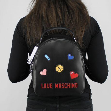 Zaino Love Moschino nero logo game JC4070PP15LH0000