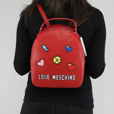 Zaino Love Moschino rosso logo game JC4070PP15LH0500