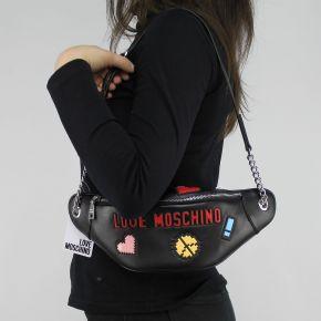 Tasche bauchtasche Love Moschino schwarz logo game JC4072PP15LH0000