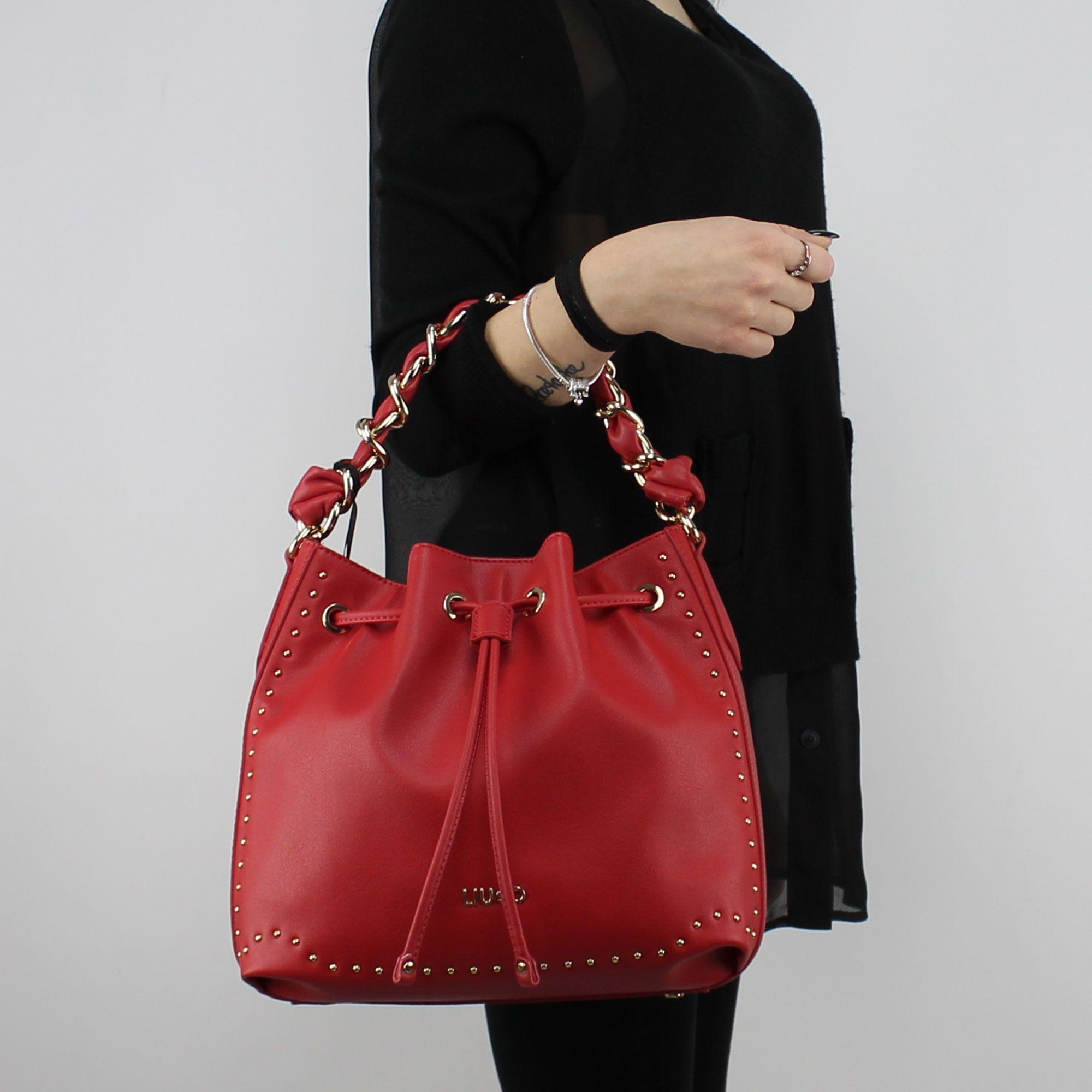 LUBITY Sac /à Main Femme R/étro Couleur Unie Chic Rivet Multi-Poches en Cuir PU Sac /à Bandouli/ère Shopping Voyage Pas Cher Messenger Bag