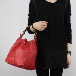 Bolsa de bolsa de balde Liu Jo m de cordón encantador que rojo cereza
