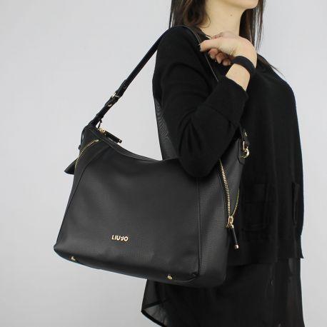 Tasche ein-Schulter-Liu Jo Hobo Niagara schwarze N18121 E0037