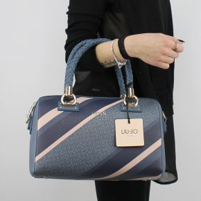 Borsa bauletto Liu Jo Satchel Manhattan blue A18080 E0385