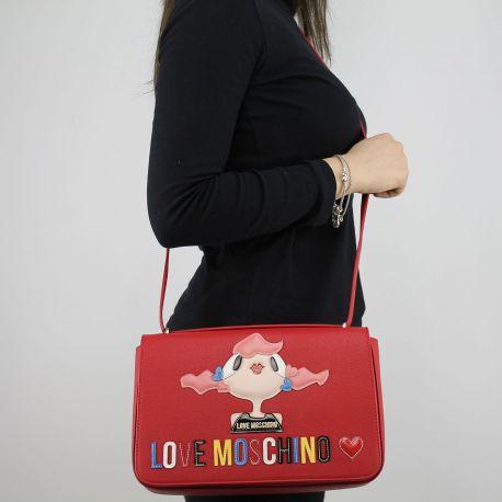 Borsa tracolla Love Moschino rossa con bambolina JC4088PP15LK0500