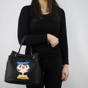 Tasche sechiello Love Moschino-schwarze mit bambolina JC4090PP15LK0000