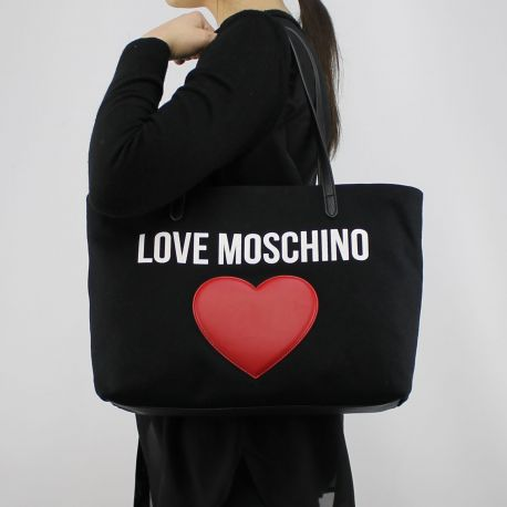 Borsa shopping Love Moschino in tela nera JC4136PP15L3000A