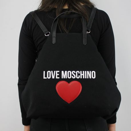 Borsa shopping Love Moschino in tela nera JC4139PP15L3000A