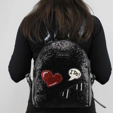 Rucksack Love Moschino schwarz und glitters JC4149PP15LL0000