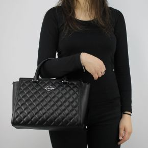 Tasche topcase Love Moschino-schwarze gesteppte JC4214PP05KA000A