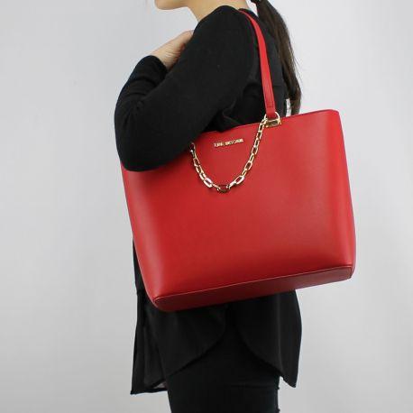 Borsa shopping Love Moschino rossa con catena dorata JC4350PP05K70500