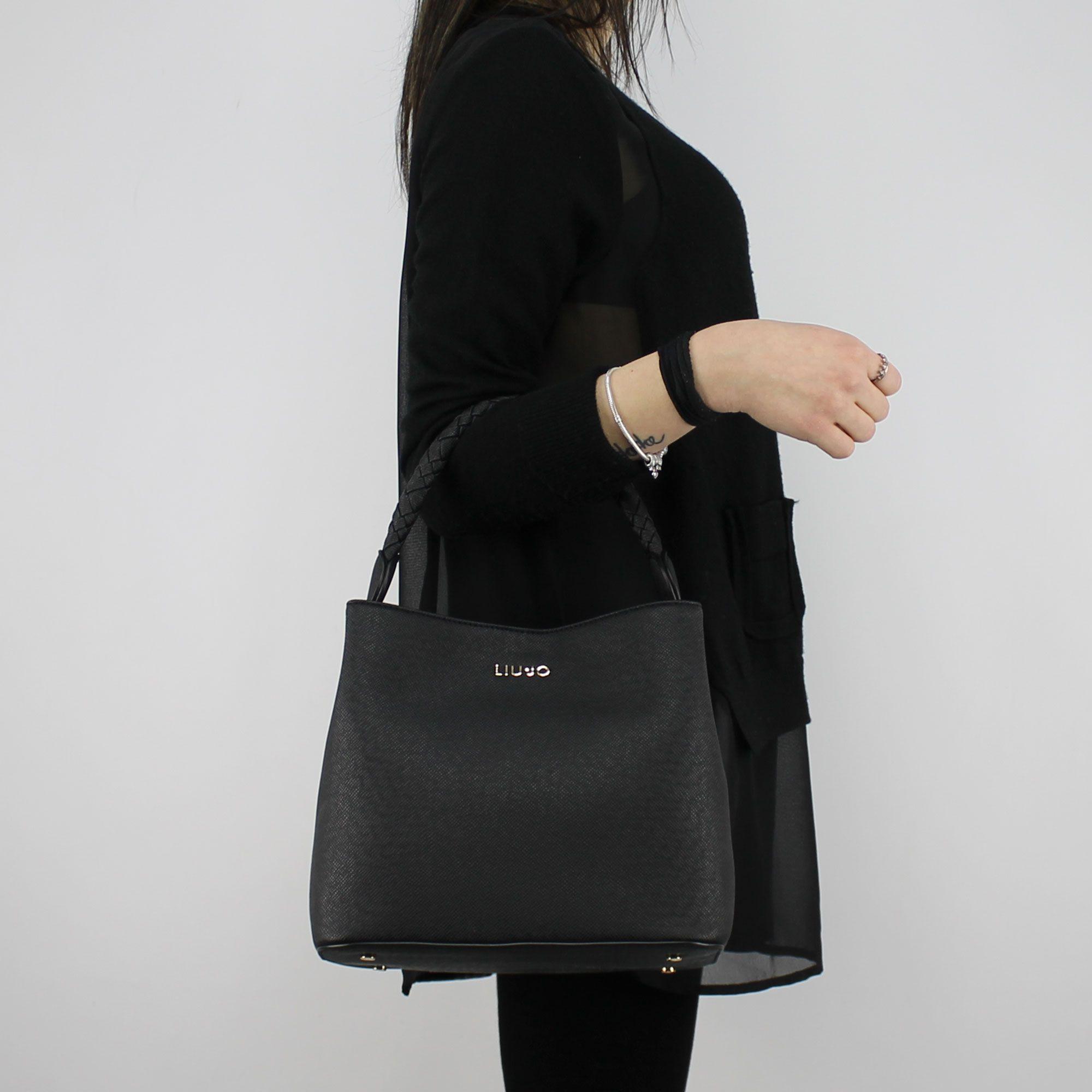 Bag bucket bag Liu Jo Drawstring Manhattan black A18101