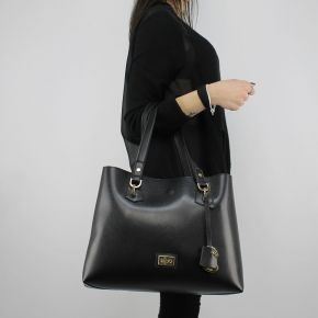 Shopping bag Liu Jo Tote Hawaii black and gold A18145 E0502 ... 643004e5d17