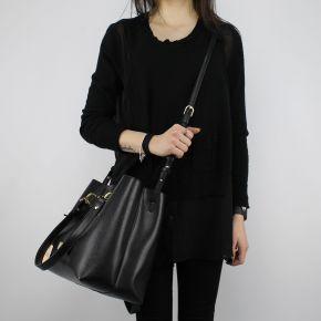 Shopping bag Liu Jo Tote Hawaii black and gold A18145 E0502
