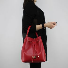 Tasche-eimer Liu Jo Drawstring Hawaii rot und rosa A18148 E0502