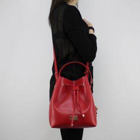 Bolsa de bolsa de balde Liu Jo Cordón Hawaii el rojo y el rosa A18148 E0502